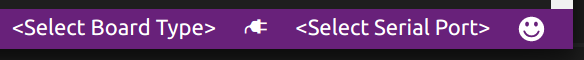 Select the board type in the VS Code status bar